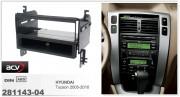 Переходная рамка ACV 281143-04 для Hyundai Tucson 2005-2010, 1DIN