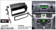 Переходная рамка ACV 281143-06 для Hyundai Sonata (NF), Sonica (2004-2008), 1DIN