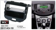 Переходная рамка ACV 291143-10 для Hyundai i10 2008-2013, 2DIN / 1 DIN