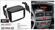 Переходная рамка ACV 381094-26 для Opel Combo Tour (D) 2011+ / Fiat Doblo (263) 2010+, 2DIN