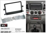 Переходная рамка ACV 381200-07 для Mitsubishi L200 2006+, Pajero Sport II 2008+, 2DIN