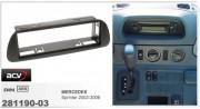 Переходная рамка ACV 281190-03 для Mercedes Sprinter 2002-2006, 1DIN