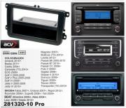 Переходная рамка ACV 281320-10 Pro для Seat, Volkswagen, Skoda, 2DIN / 1DIN
