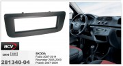 Переходная рамка ACV 281340-04 для Skoda Roomster 2006-2009, Fabia 2007-2014, Praktik 2007-2009, 1DIN