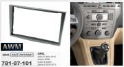 Переходная рамка AWM 781-07-101 для Opel Antara 2006+, Astra H 2004-2010, Zafira B 2005-2012, Corsa D 2006+, 2DIN
