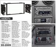 Переходная рамка Metra 95-2009 для Buick, Cadillac, GMC, Hummer, Isuzu, Oldsmobile, Chevrolet, Pontiac, Suzuki, 2DIN