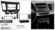 Переходная рамка Metra 99-7011 для Mitsubishi Lancer X 2007+, 2DIN / 1DIN