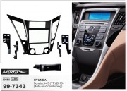Переходная рамка Metra 99-7343 для Hyundai Sonata, i45 (2010+), 2DIN / 1DIN