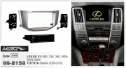 Переходная рамка Metra 99-8159 для Lexus RX400, RX350, RX330, RX300 (2003-2009) / Toyota Harrier (2003-2012), 2DIN / 1DIN
