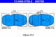 Тормозные колодки ATE 13.0460-5789.2