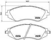 Тормозные колодки BREMBO P15002