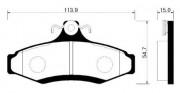 Тормозные колодки HSB HP2007
