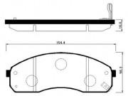 Тормозные колодки HSB HP1012