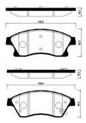 Тормозные колодки HSB HP2021