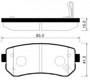 Тормозные колодки HSB HP1035