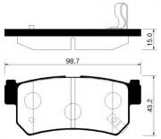 Тормозные колодки HSB HP4002