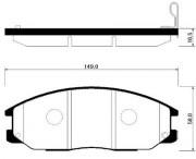 Тормозные колодки HSB HP0015