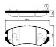 Тормозные колодки HSB HP0009