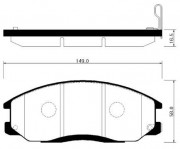 Тормозные колодки HSB HP0024