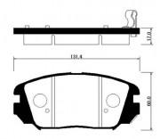 Тормозные колодки HSB HP0031