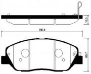 Тормозные колодки HSB HP0043