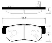 Тормозные колодки HSB HP0008