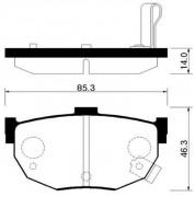 Тормозные колодки HSB HP0021