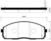 Тормозные колодки HSB HP0029