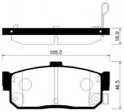 Тормозные колодки HSB HP3002