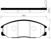 Тормозные колодки HSB HP4007