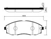 Тормозные колодки HSB HP0018
