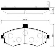 Тормозные колодки HSB HP0027