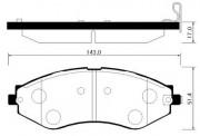 Тормозные колодки HSB HP2012