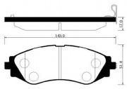 Тормозные колодки HSB HP2006