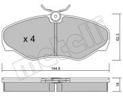 Тормозные колодки METELLI 22-0338-2