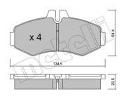 Гальмівні колодки METELLI 22-0573-0