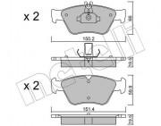 Тормозные колодки METELLI 22-0219-0