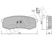 Тормозные колодки METELLI 22-0432-0