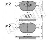 Гальмівні колодки METELLI 22-0533-0