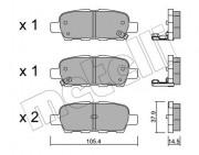 Тормозные колодки METELLI 22-0612-0