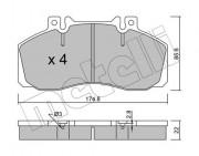 Тормозные колодки METELLI 22-0267-0