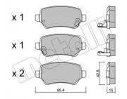 Тормозные колодки METELLI 22-0542-0