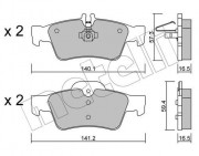 Тормозные колодки METELLI 22-0568-0