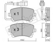 Гальмівні колодки METELLI 22-0554-0