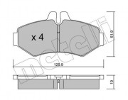 Тормозные колодки METELLI 22-0572-0