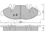 Тормозные колодки METELLI 22-0575-0