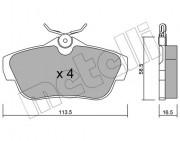 Тормозные колодки METELLI 22-0712-0