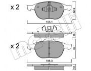 Тормозные колодки METELLI 22-0534-0