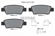 Тормозные колодки TEXTAR 2463501