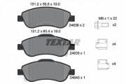 Тормозные колодки TEXTAR 2463801